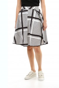Geo Cotton Skirt