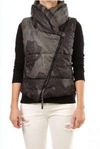 Printed Puffer Vest