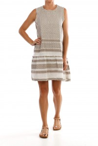 Dress 2 0 no sleeve dress taupe