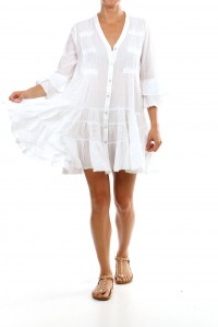 Bell Sleeve Beach Dress