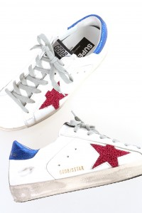 Sneakers superstar white fuxia lurex star