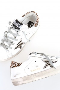 Sneakers superstar white leather wild
