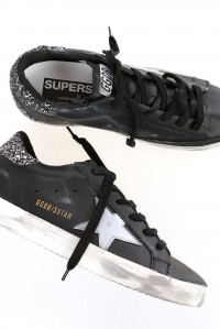 Sneakers superstar black glitter heel