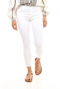 Alana High Rise Crop Skinny with Studs