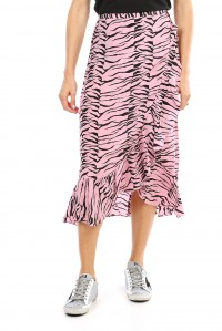 Gracie Skirt Pink Black Tiger