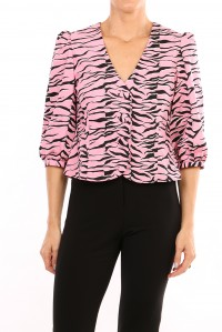 Eva Top Pink Black Tiger