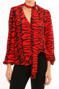 Moss Shirt Red Tiger