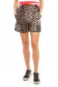 Silk and Linen Leopard Short