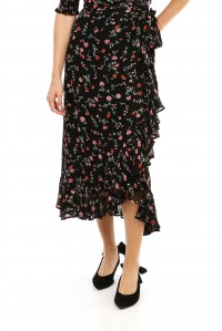 Printed Georgette Wrap Skirt