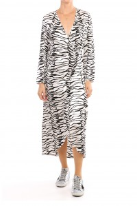 Betty Dress Black and White Tiger