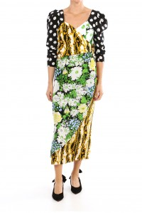 Ceilia Polka Dot Floral Chain Dress