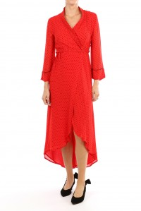 Mulin Georgette Wrap Dress
