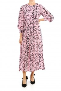 Emma Dress Pink Black Tiger