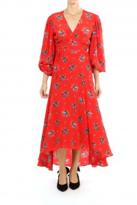 Kochhar Wrap Dress Cherry