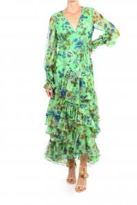 Solace Dress Eden Green Floral