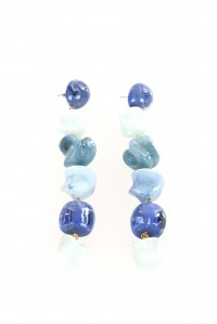 Leo Earrings Blue