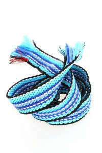 Mixed Stripe Blue Belt