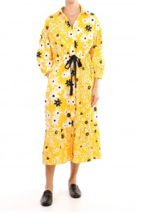 Meadow Collared Dress Canary Yellow