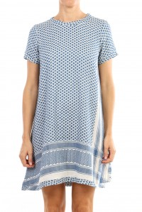 Dress 1 O Short Sleeve Cobalt