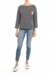 Heart Pocket Stripe Tee