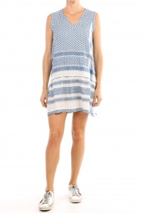 Dress 2 V No Sleeve Cobalt