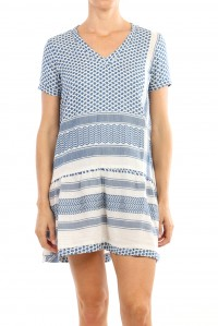 Dress 2 V Short Sleeve Cobalt