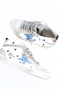 Mid Star Sneakers White Leather Dot
