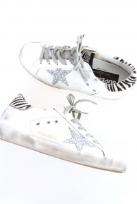Sneakers Superstar White Silver Glitter Star
