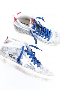Mid Star Sneaker Silver Sequins