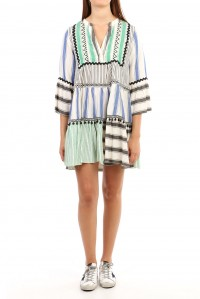 Short Beach Dress Stripes Green