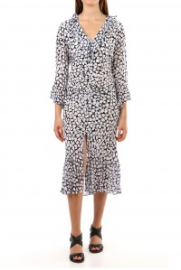 Coleen Phychedelic Camo Tulip Dress