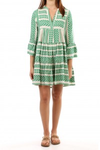Bell Sleeve Beach Dress Green