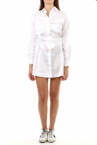 Cotton Shirt Dress with Belt