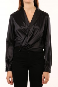 Anna Wrap Silk Blouse