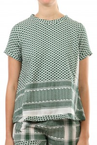 Shirt O Short Sleeve Green