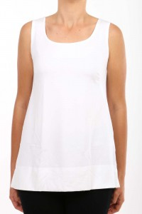 LOOSE FIT SINGLET TUNIC WHITE