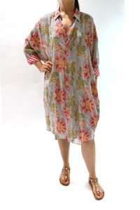 Exclusive Billie Shirt Dress French Floral