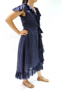 Roma Dress Soft Silk Navy