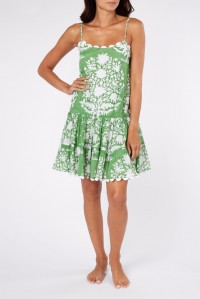 Strappy Dress Palladio Block Print Green