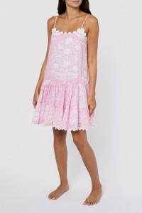 Strappy Dress Palladio Block Print Pink