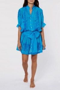 Neon Blouson Dress Silk