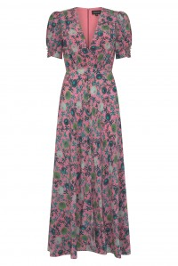 Lea Long Dress Lotus Leaves