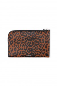 Leather Pouch Toffee Leopard
