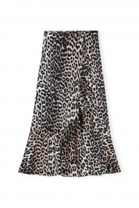 Silk Leopard Skirt