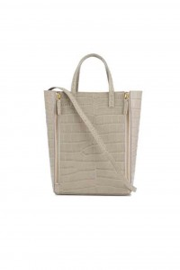 Mr Scurry Tote Mini Croc Gull Grey