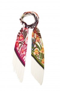 Money Orchid Classic Skinny Fringed Scarf