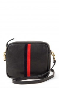Midi Sac Black with Navy and Red Stripe