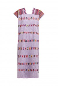 Single Panel midi kaftan in lilac with people rainbow design