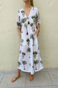 Paros Beach Tropical Jungle Dress