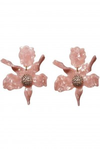Crystal Lily Earrings Soft Pink